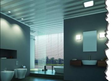Варианты отделки потолка в ванной комнате