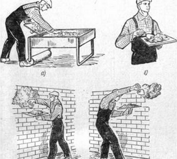 как набрасывать раствор на стену