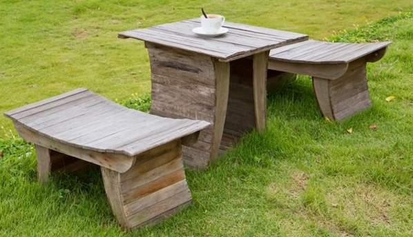 Мебель для дачи из пеньков своими руками фото 3