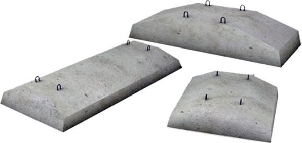 покупные подушки бетонные
