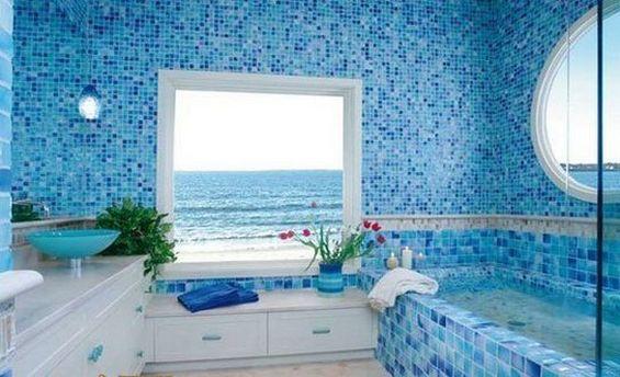 Ванная комната в морском стиле: фото