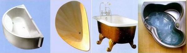какие есть виды ванн для дома