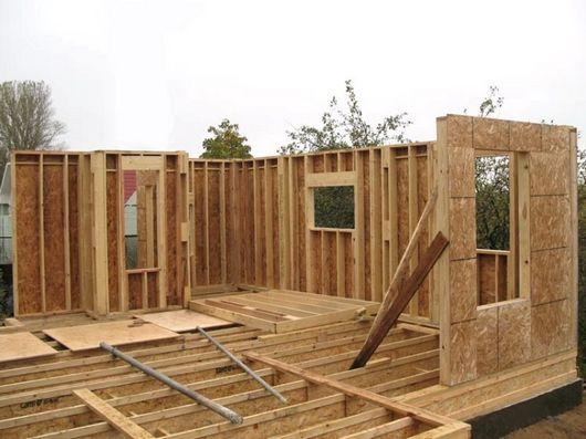 Каркасный дом своими руками фото строительства