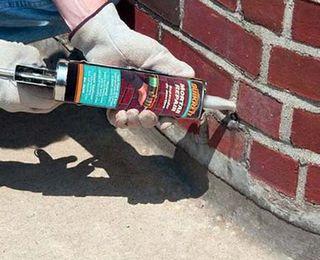 ремонт шва силикатом