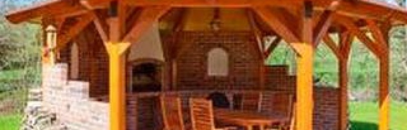 Варианты беседок с мангалом и барбекю на дачном участке