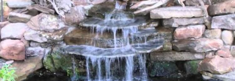 Как самому сделать искусственный водопад в саду