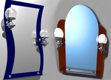 Варианты обустройства ванной комнаты: выбираем зеркало