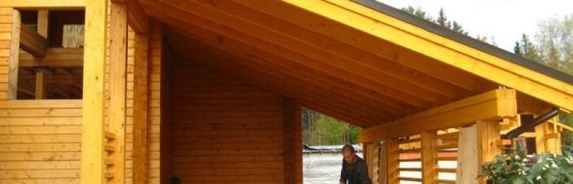 Как пристроить навес для авто к дому: фото разных конструкций