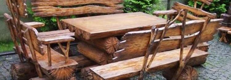 Как сделать мебель для дачи своими руками из брёвен и пеньков