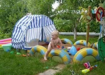Как построить самостоятельно детскую площадку на даче. Идеи для строительства