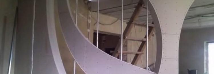 Монтаж межкомнатных перегородок из гипсокартона