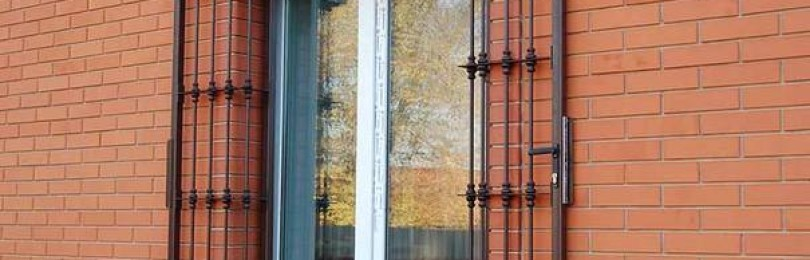 Виды распашных решеток на оконные проёмы