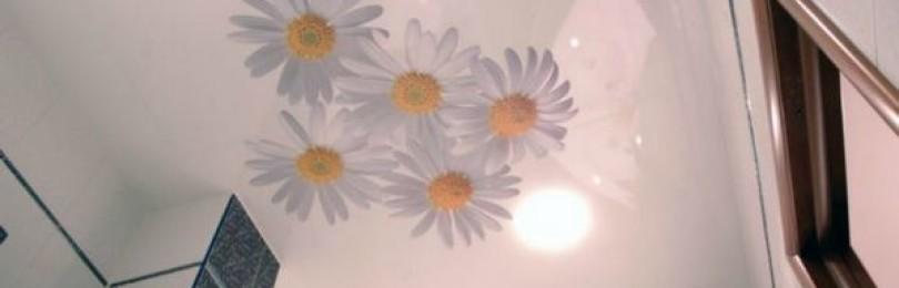 Натяжные потолки в ванной: удачный вариант отделки!