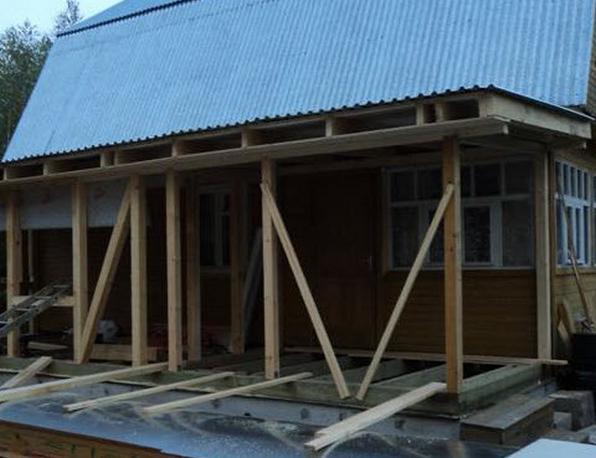 добавить строение к деревянному дому