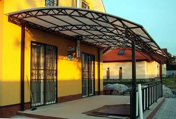 крыша на металлических перекрытий