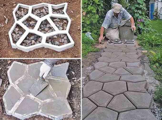 заливка бетона в форму