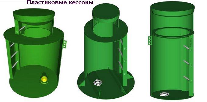 виды пластиковых кессонов